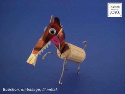 Foxi, le renard en bouchon et en carton